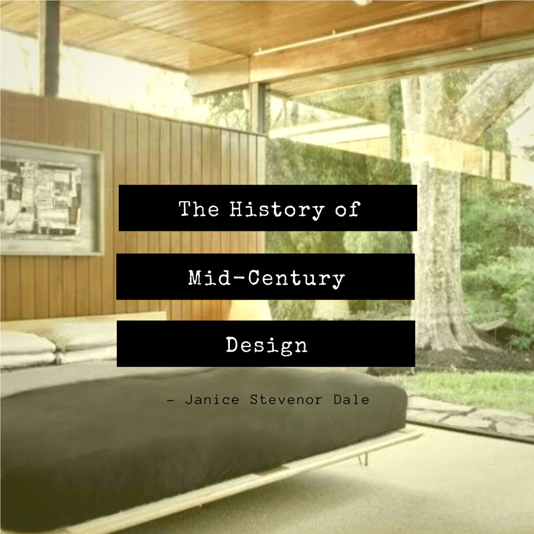 The Emergence Of A Distinctive American Design Idiom In Middle 20th Century Was Highly Influenced By Tragic And Transformative Realities